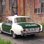Der Ford Taunus 17m, ein historisches Polizeifahrzeug aus dem 1. Deutschen Polizeioldtimer Museum Marburg
