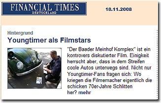 Bericht Youngtimer als Filmstars