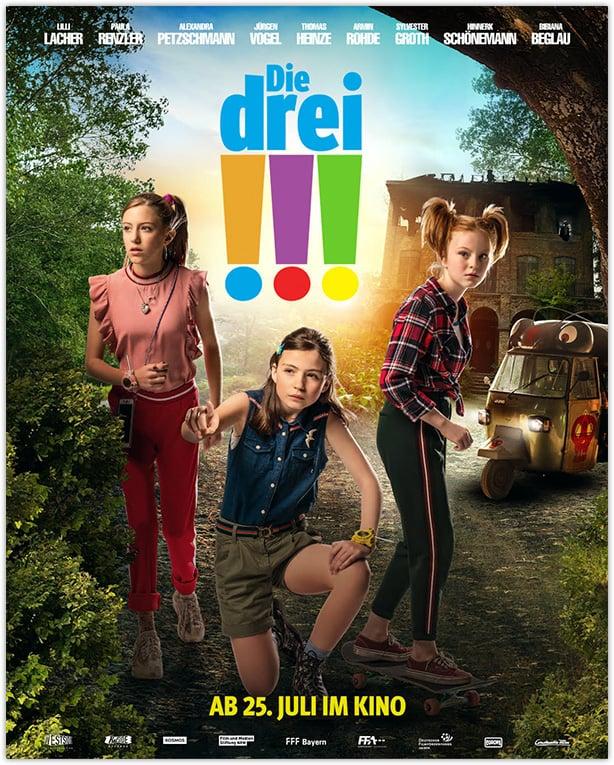 """Das Filmplakat zum Kinofilm """"Die drei !!!"""""""