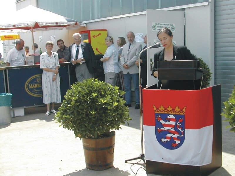 Die Rede von Frau Staatsekretärin Scheibelhuber, die viel Lob für die Mitglieder des PMC zollte
