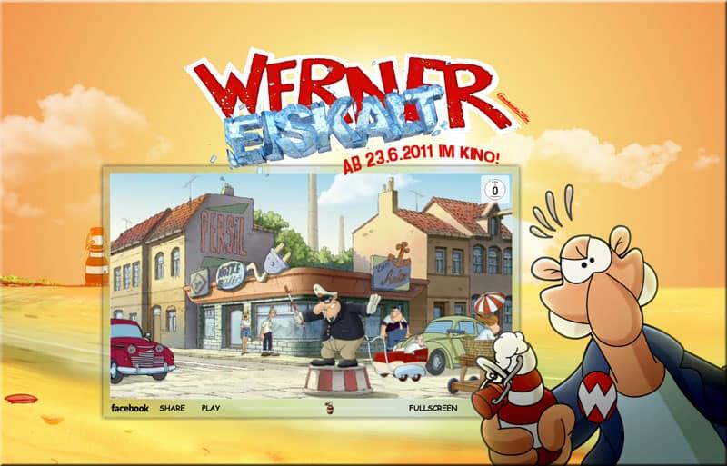 """Ein Screenshot aus dem Werner-Film """"Werner Eiskalt"""""""