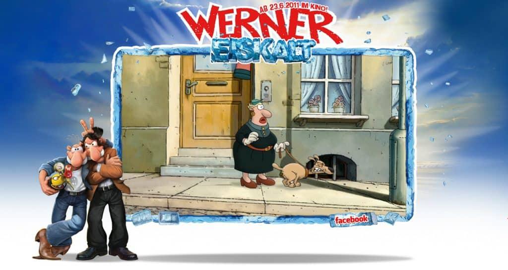 """Ein Screen aus dem Werner-Film """"Werner Eiskalt"""""""