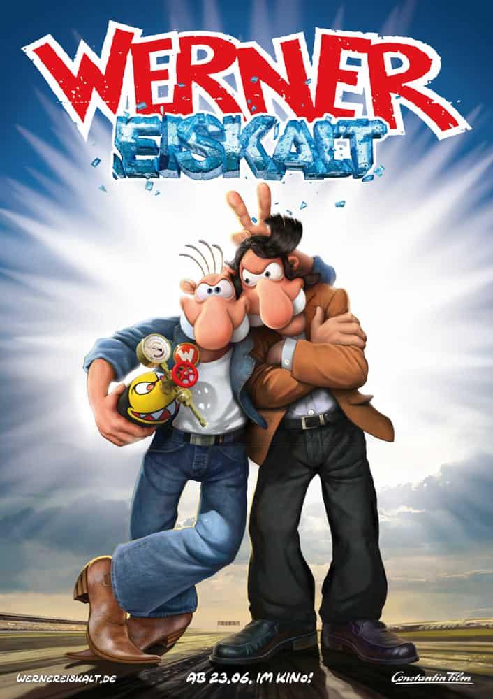 """Kinoplakat zu """"Werner-Eiskalt""""(Quelle: Constantin Film Verleih GmbH) Uraufführung am 23.06.2011"""