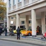 """Am Set vom Dreh zu den """"Goldjungs"""" mit einigen Porsche 911, direkt in der Kölner Innenstadt"""