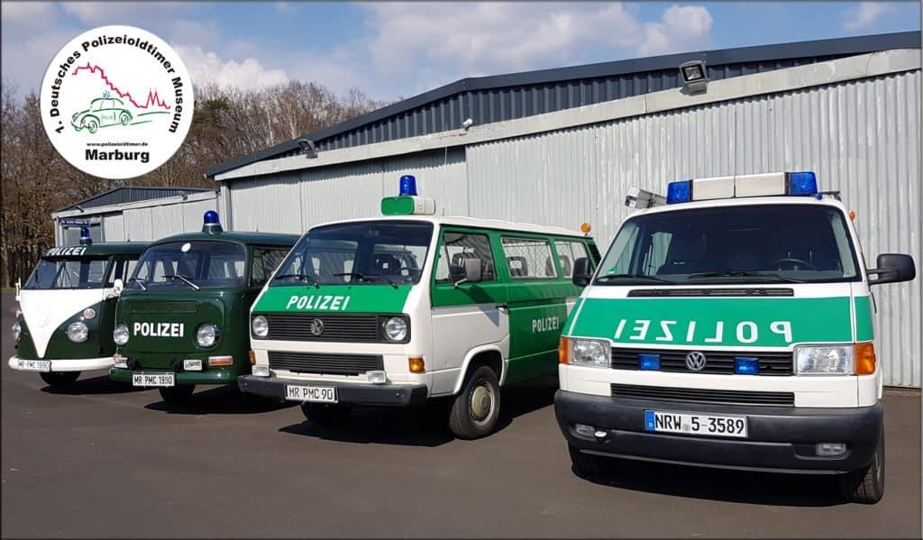 Die Sammlung der VW-Bullis ist vervollständigt, vom T1 bis T4 im VW kann man sie im Polizeioldtimer Museum Marburg bewundern